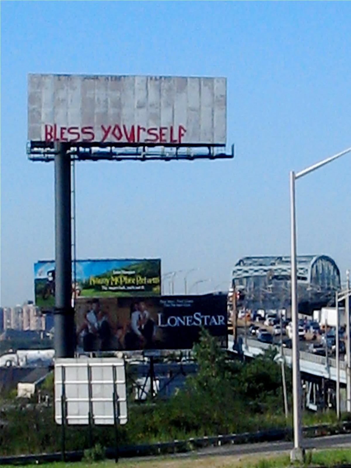 jodi sh doff  : onlythejodi : gods graffiti : BQE billboard